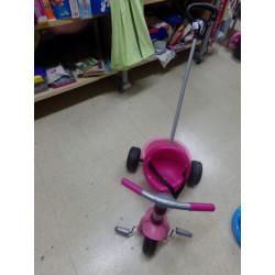 Triciclo Smoby rosa. Segunda mano