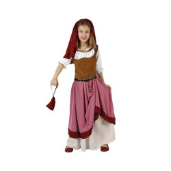 Disfraz de campesina para niña, talla 3-4 años