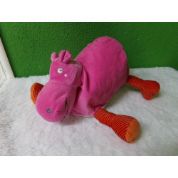 Peluche hipopótamo rosa 30 cm