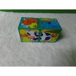Cubos rompecabezas de animales. Segunda mano