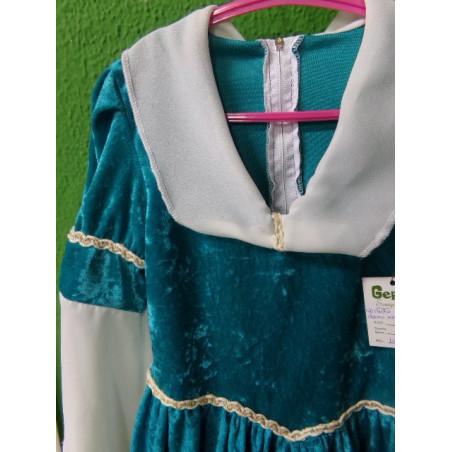 Disfraz de dama medieval. Talla 6-8 años. Segunda mano