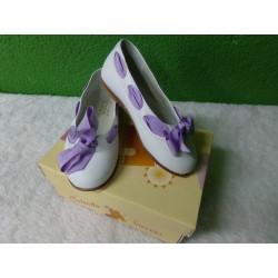 Zapato resto de tienda blanco y lila talla 24