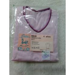 Camiseta rosa interior. Talla 4 años. A estrenar