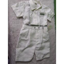 Conjunto de pantaón y camisa, Talla 12 meses. A estrenar