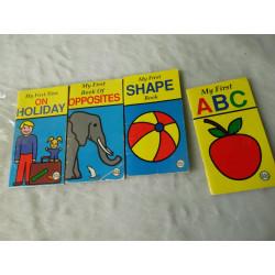 4 Minilibros en inglés. Segunda mano