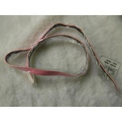 Cinturon de topos blancos y rosa