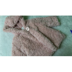 Abriguito de pelito rosa 3 meses