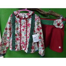 Conjunto blusa y falda Artesania Manolita a estrenar talla 6