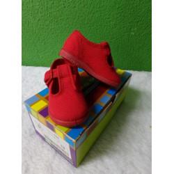 Zapatilla loneta roja T18 a estremar