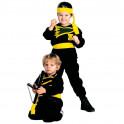 Disfraz infantil ninja pequeño samurai traje negro niño guerrero japón