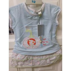 Conjunto camiseta y falda talla 3 meses. Tuc Tuc.  A estrenar