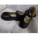 Zapato de piel marrón N 20. Segunda mano