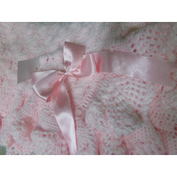 Chal de lanita en rosa. Segunda mano