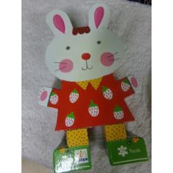 Puzzle Djeco conejo segunda mano