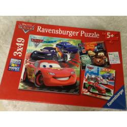 Puzzle de Cars 3x49 piezas. Segunda mano