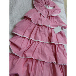Vestido rosa volantes talla 6 años.  Segunda mano