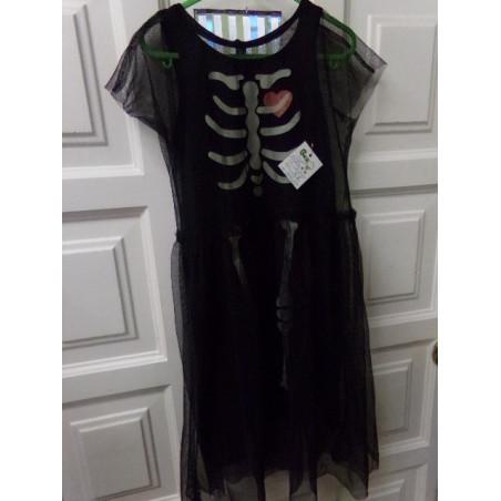 Disfraz esqueleto talla 3-4 años. Segunda mano