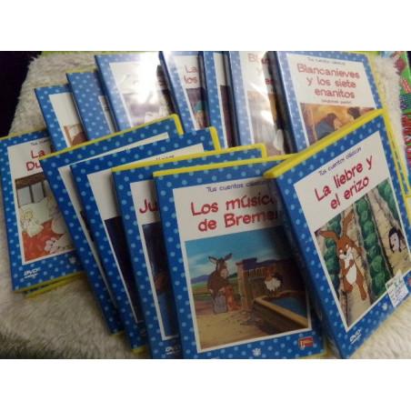 14 DVD de cuentos infantiles. Segunda mano