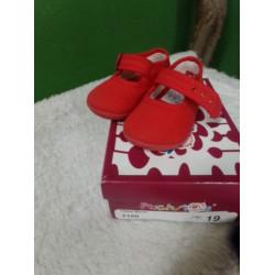 Zapatilla loneta roja T19