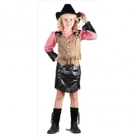 Disfraz de vaquera de niña. Talla 6-7 años. Segunda mano
