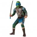 Disfraz de Leonardo musculoso Tortugas Ninja Movie para niño 8 - 10 años