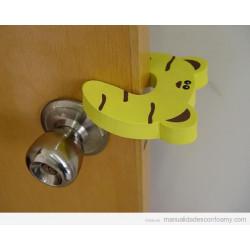 Topes de puerta de goma Eva Modelo Tigre - Amarillo A ESTRENAR