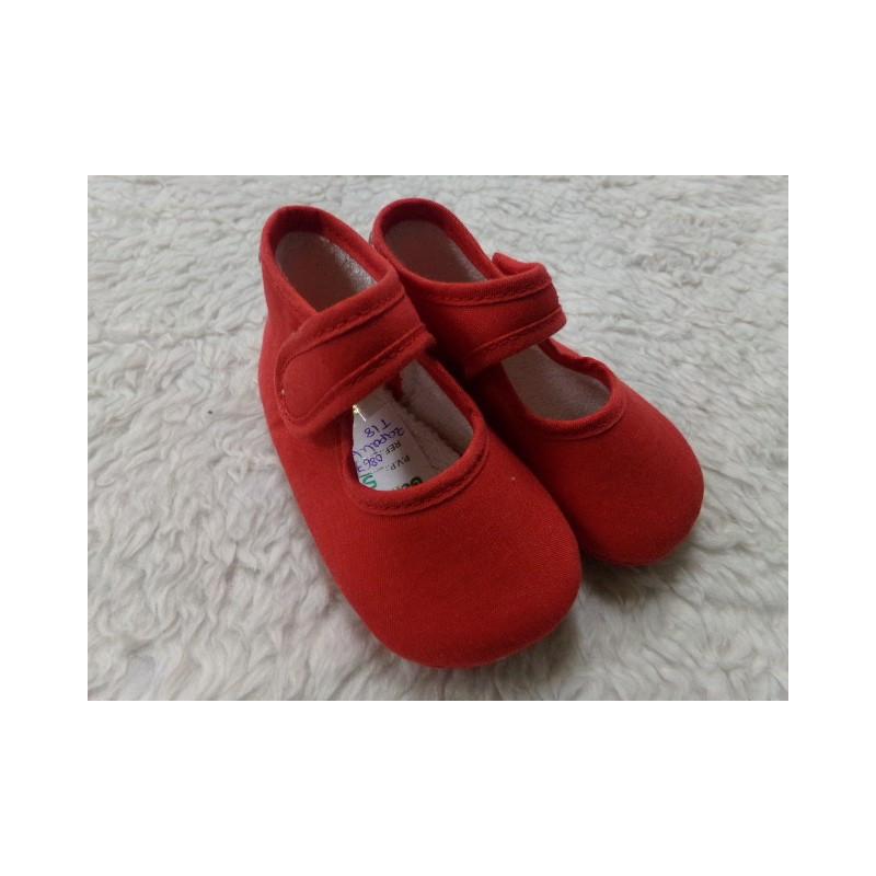 Zapatito rojo algodon T18