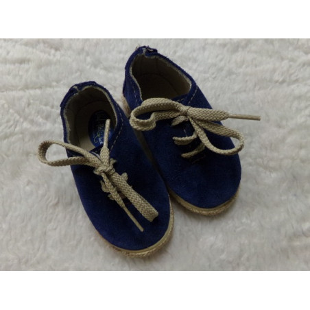 Zapato esparto azul marino N 20. Segunda mano