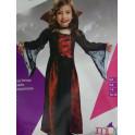 Disfraz de vampiresa reina talla 7-9 años. Segunda mano
