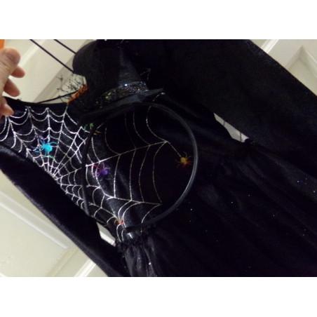 Disfraz de bruja con diadema 6 años