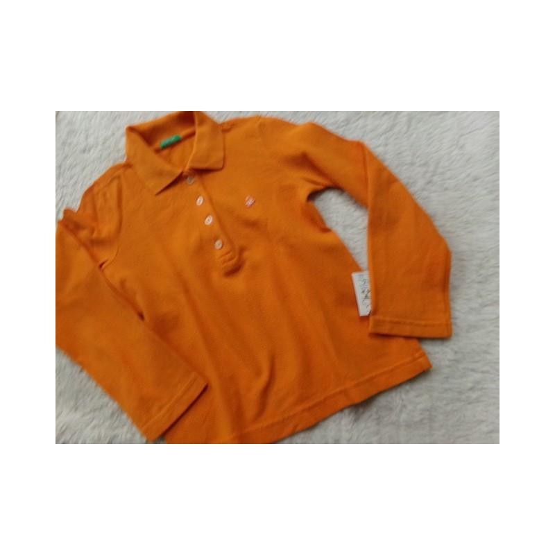 Polo Benetton naranja 6 años