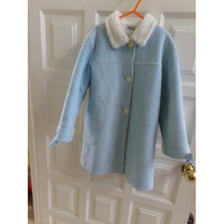 Abrigo azul de borreguillo talla 5 años. Segunda mano