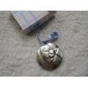 Medalla en plata bilaminada para carrito. Sin uso
