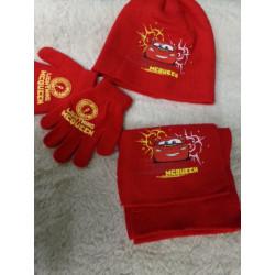 Conjunto de bufanda, guantes y gorro de 52 cm. CARS. Segunda mano