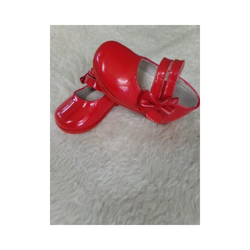 Zapato charol rojo T19