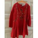 Vestido rojo Zara talla 6 años. Segunda mano