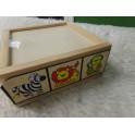 Caja de puzzles de madera
