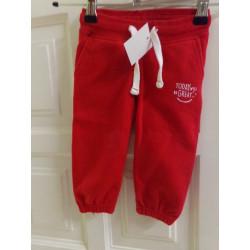 Pantalon chandal rojo 6-12 meses