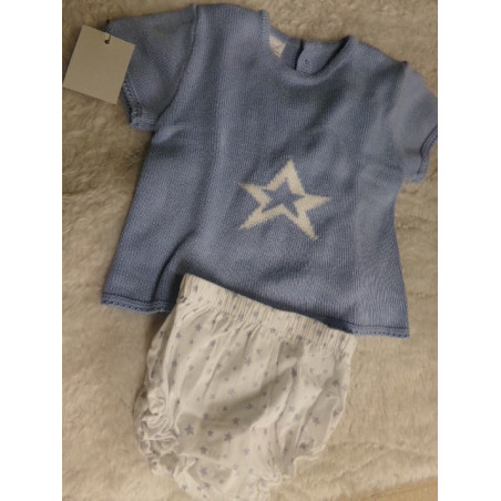 Conjunto de bombacho y jersey. Talla 6 meses. Segunda mano