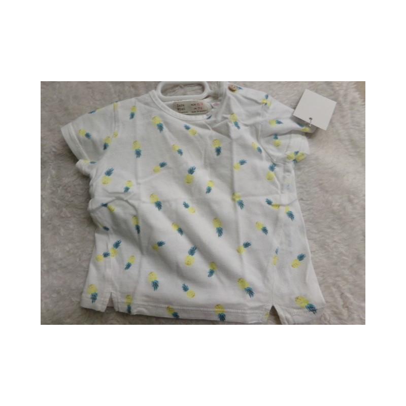 Camiseta piñas 6-9 meses