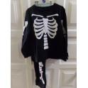 Disfraz esqueleto. Talla 3-4 años. Segunda mano