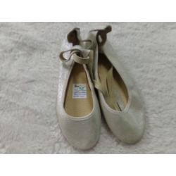 Bailarinas plata N 34. Segunda mano