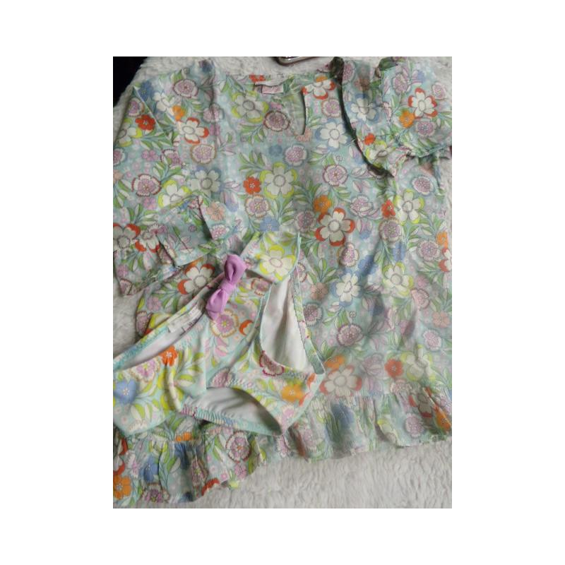 Conjunto de braguita de baño con vestido. Talla 2-3 años. Zara Home