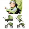 Sokke Xplory 3 piezas con base para el coche saco sombrilla y plasticos segunda mano