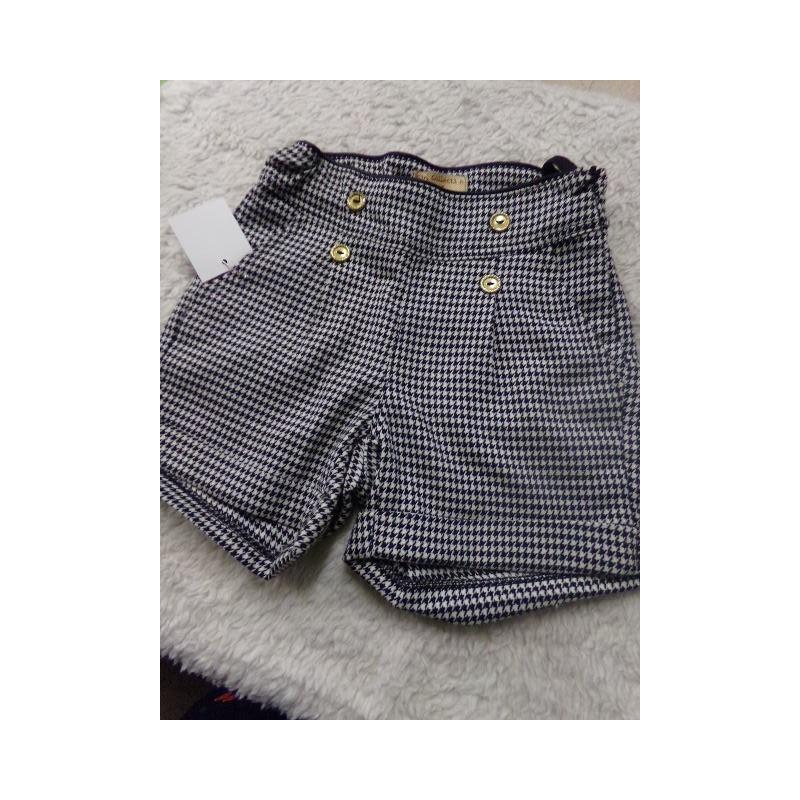 Pantalon corto pata de gallo 5-6 años