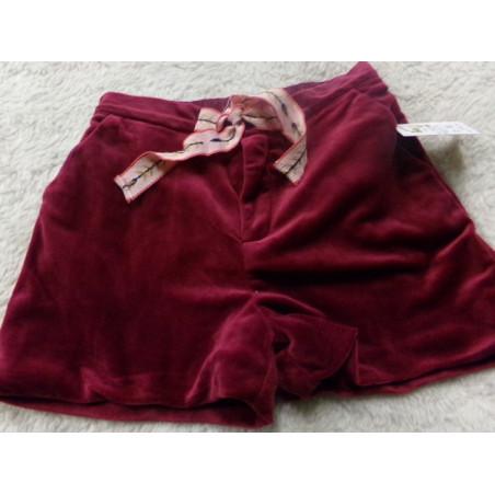 Pantalon corto terciopelo burdeos 6 años