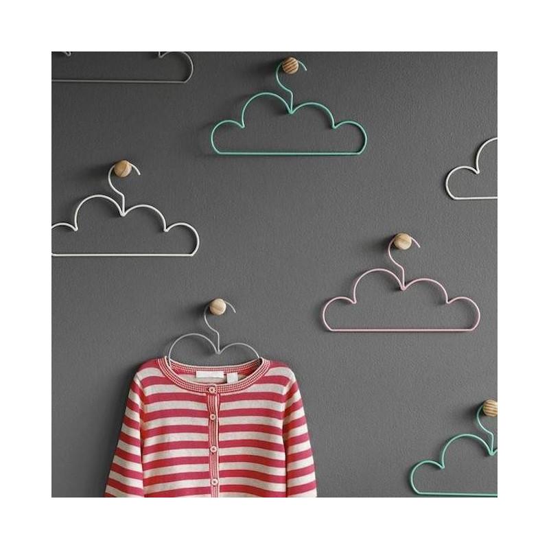 Pack de 6 perchas con forma de nube