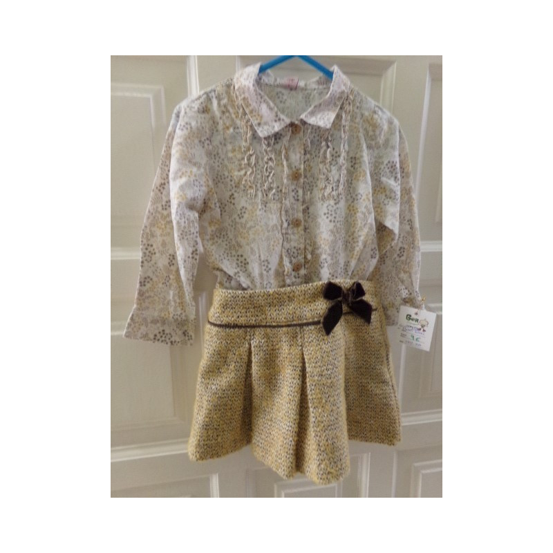 Conjunto Blusa y falda 2 años