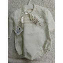 Pelele y chaqueta talla 6 meses, para bautizo. Segunda mano