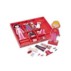 Juego magnético viste las muñecas Magneto Dress Amanda & Caroline segunda mano
